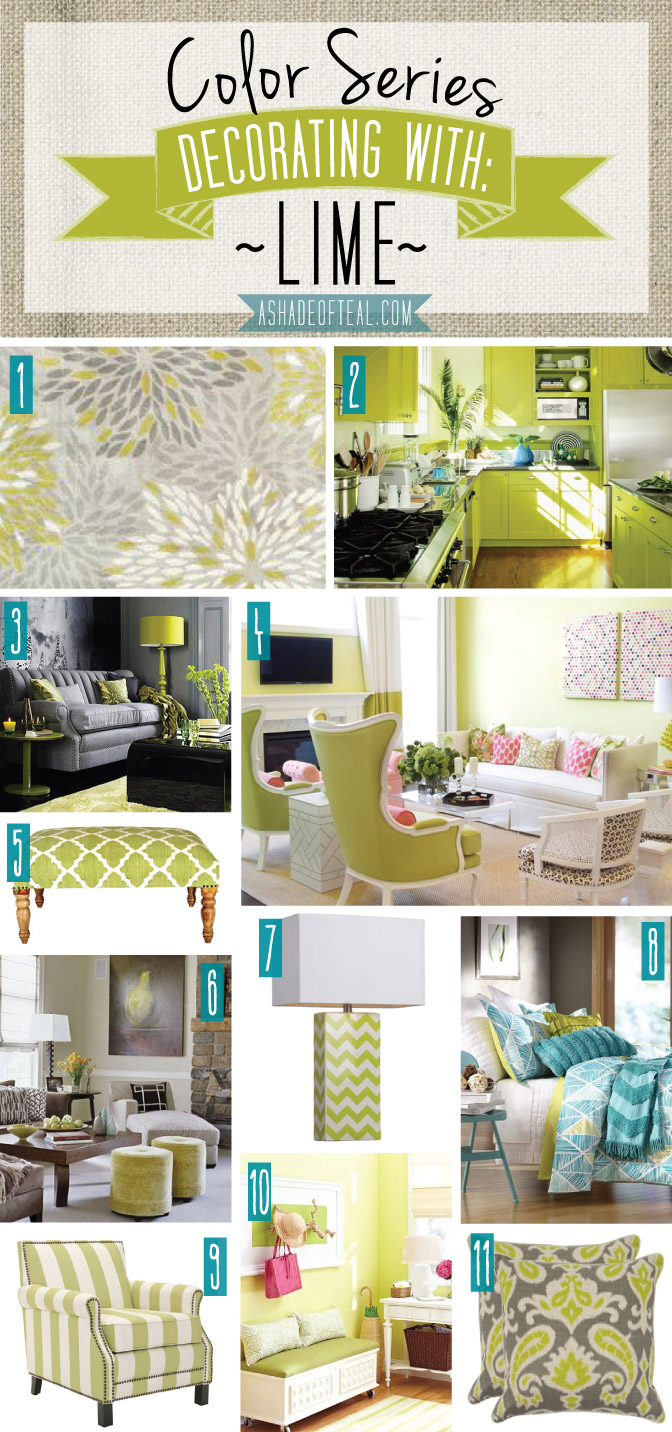 color series decorating with lime. Black Bedroom Furniture Sets. Home Design Ideas