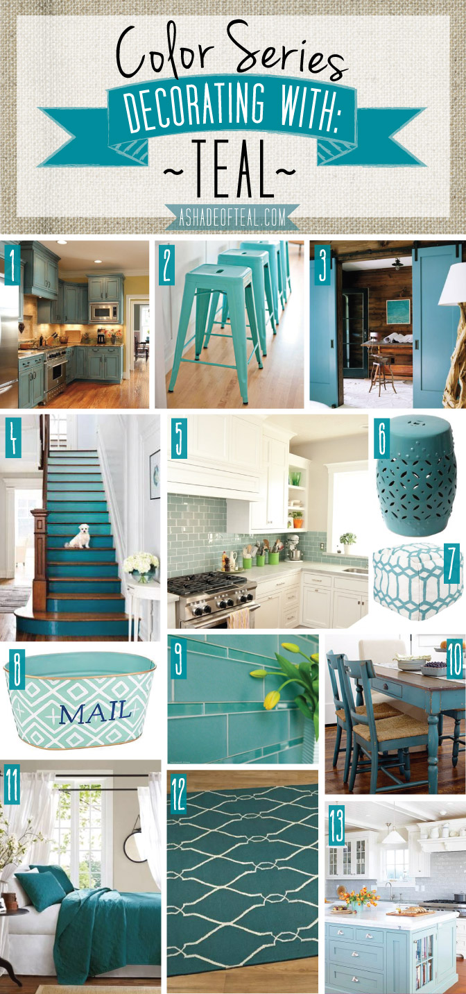 Color series decorating with teal for Decorating with dark colours