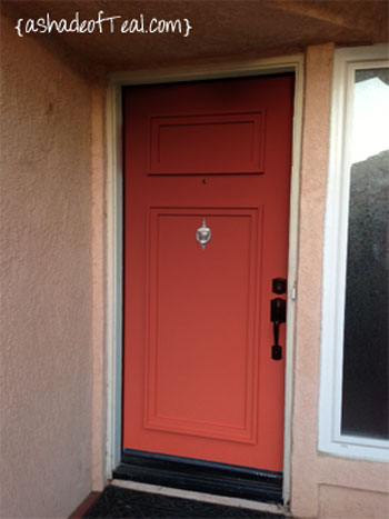 Redo Front Door A Shade Of Teal