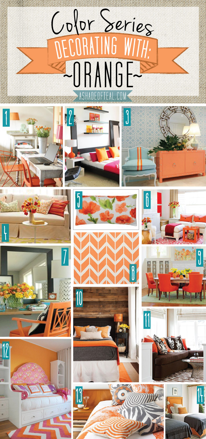 Color Series Decorating With Orange