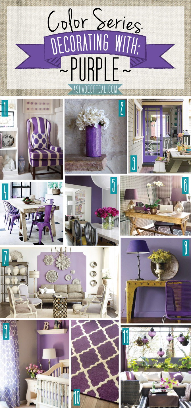 Color series decorating with purple Home decor pinterest boards to follow