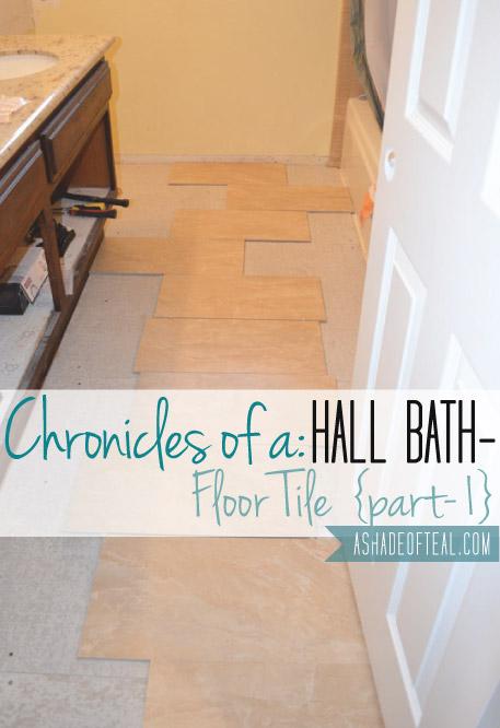 Hall Bath Chronicles Tile Floor Pt1