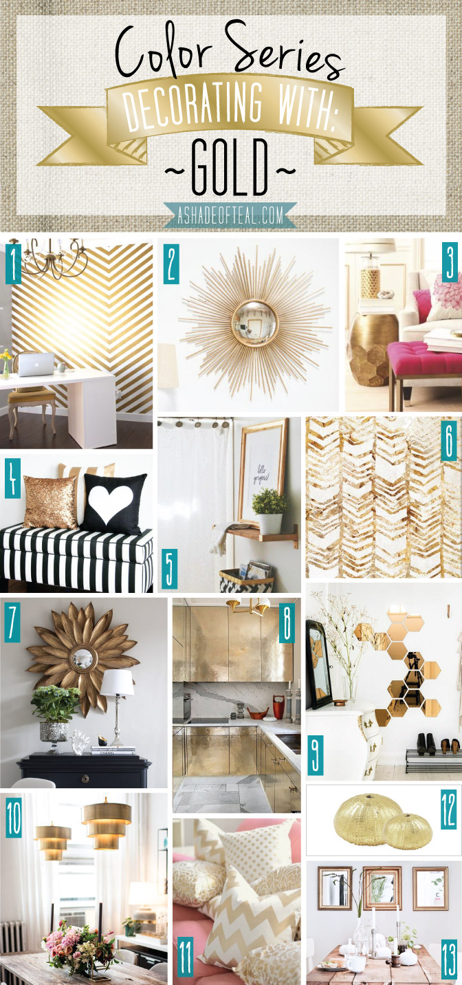 Color Series Decorating With Gold