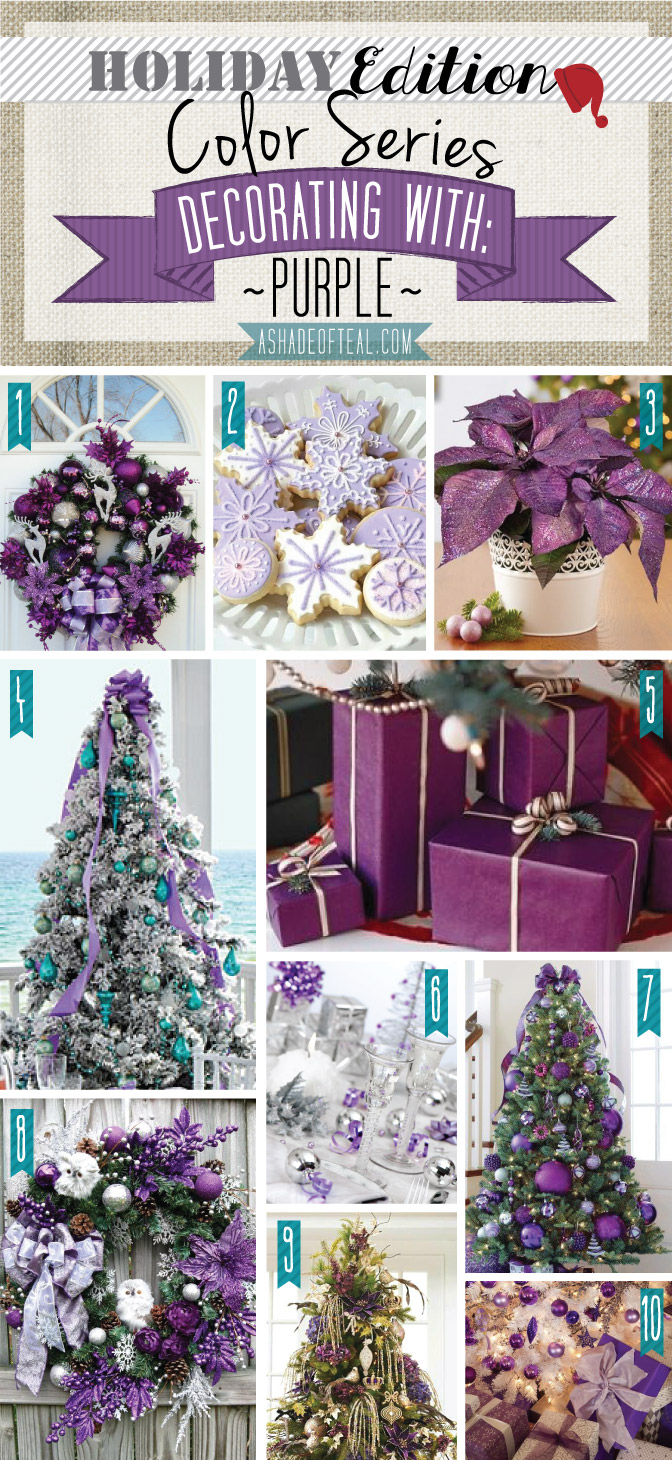Color series holiday edition purple for Teal decorations for the home