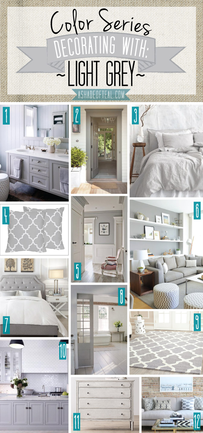 Color series decorating with light grey for Teal decorations for the home