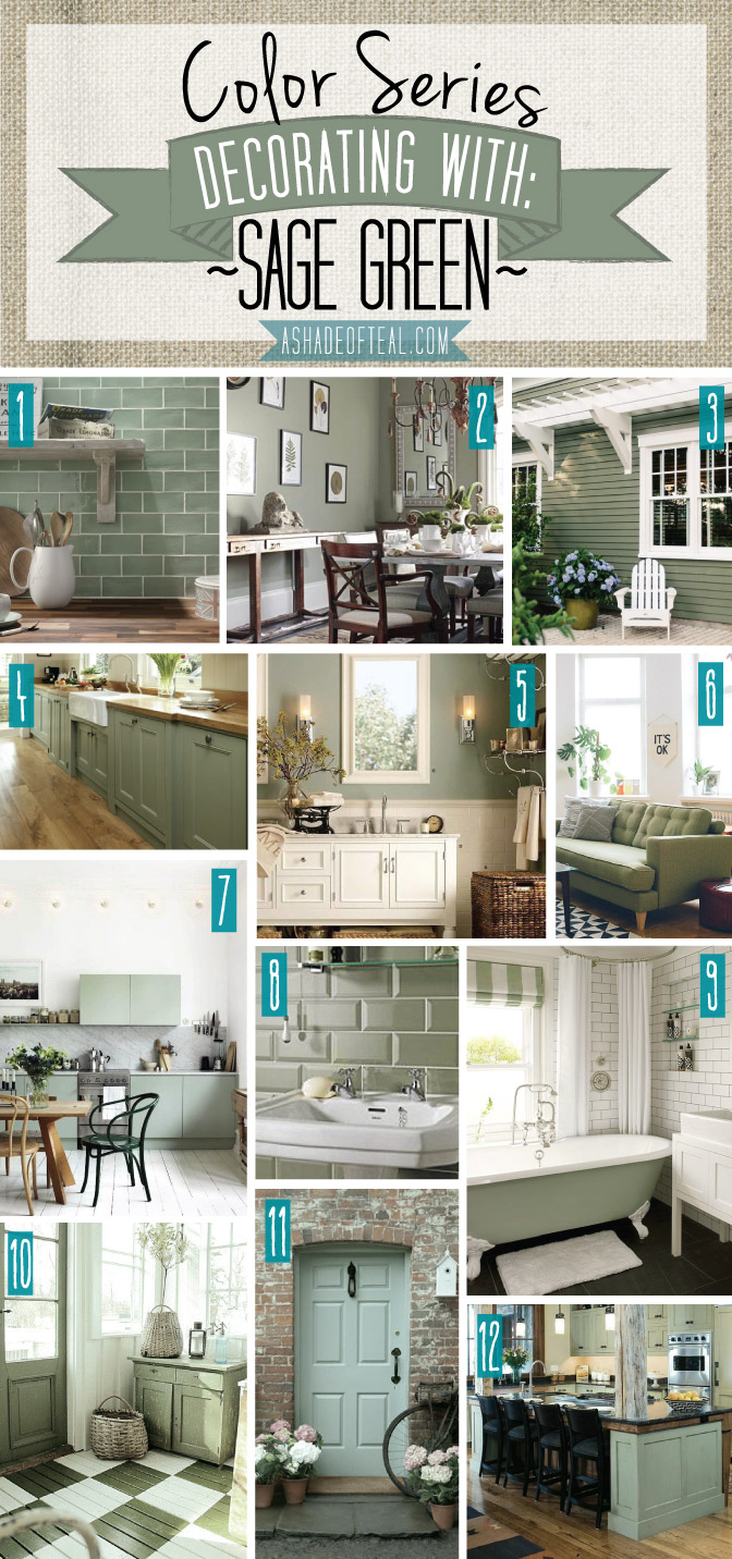 Color Series Decorating With Sage Green