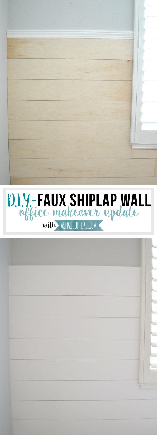 DIY- Faux Shiplap Wall | A Shade Of Teal