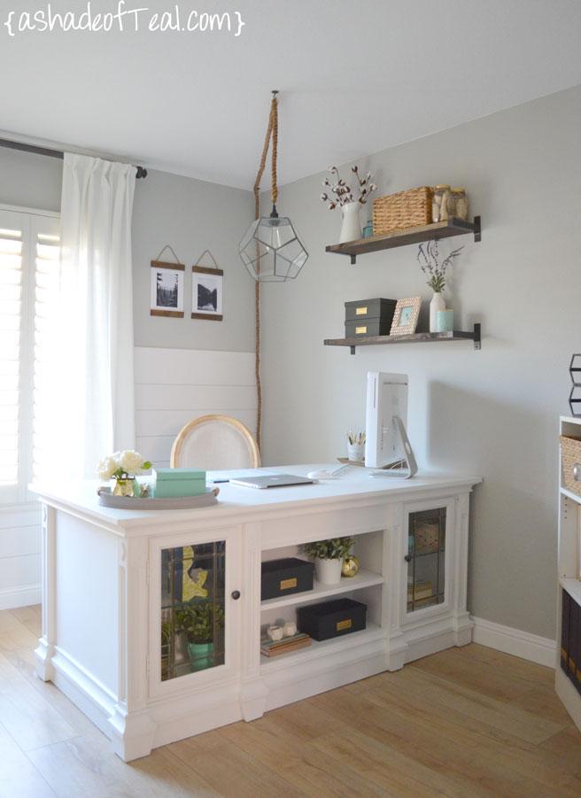 Rustic DIY Bookshelf with IKEA Ekby Brackets | A Shade Of Teal