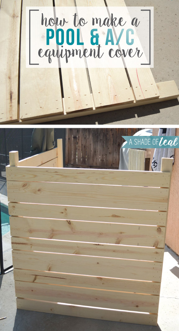 How To Build A Pool Or A C Equipment Cover A Shade Of Teal