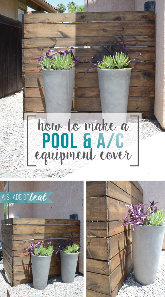 Clever Ways To Hide Ac Amp Pool Equipment A Shade Of Teal