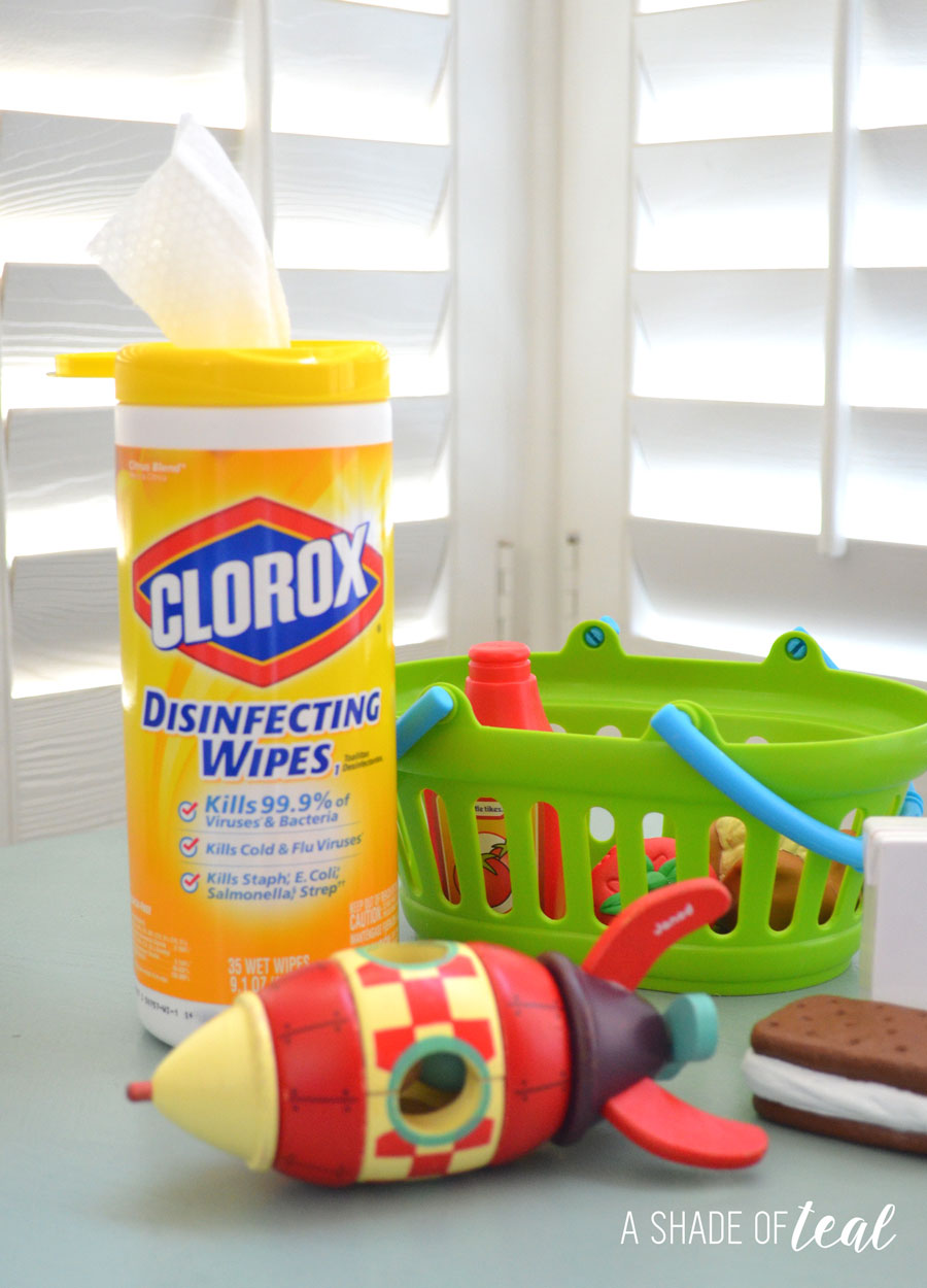 Keeping Kids Toys Clean With Clorox Wipes A Shade Of Teal