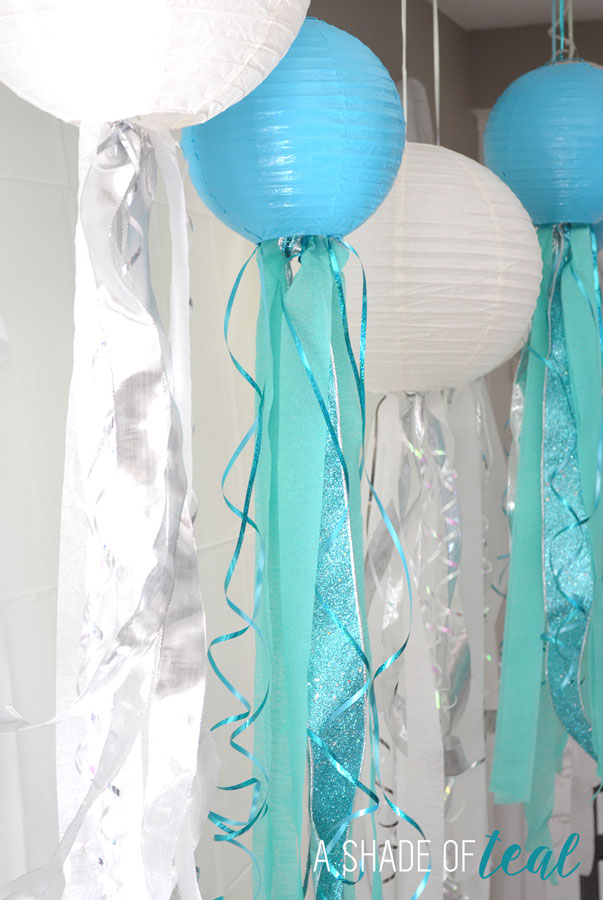 Diy how to make jelly fish lanterns a shade of teal