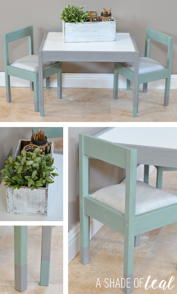 Ikea Hack Latt Kids Table Makeover A Shade Of Teal