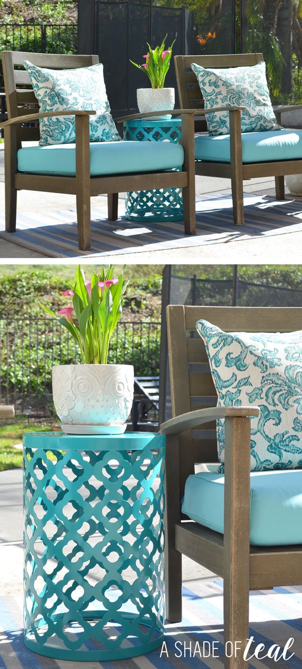 Diy Ladder Light Centerpiece Amp Outdoor Makeover With