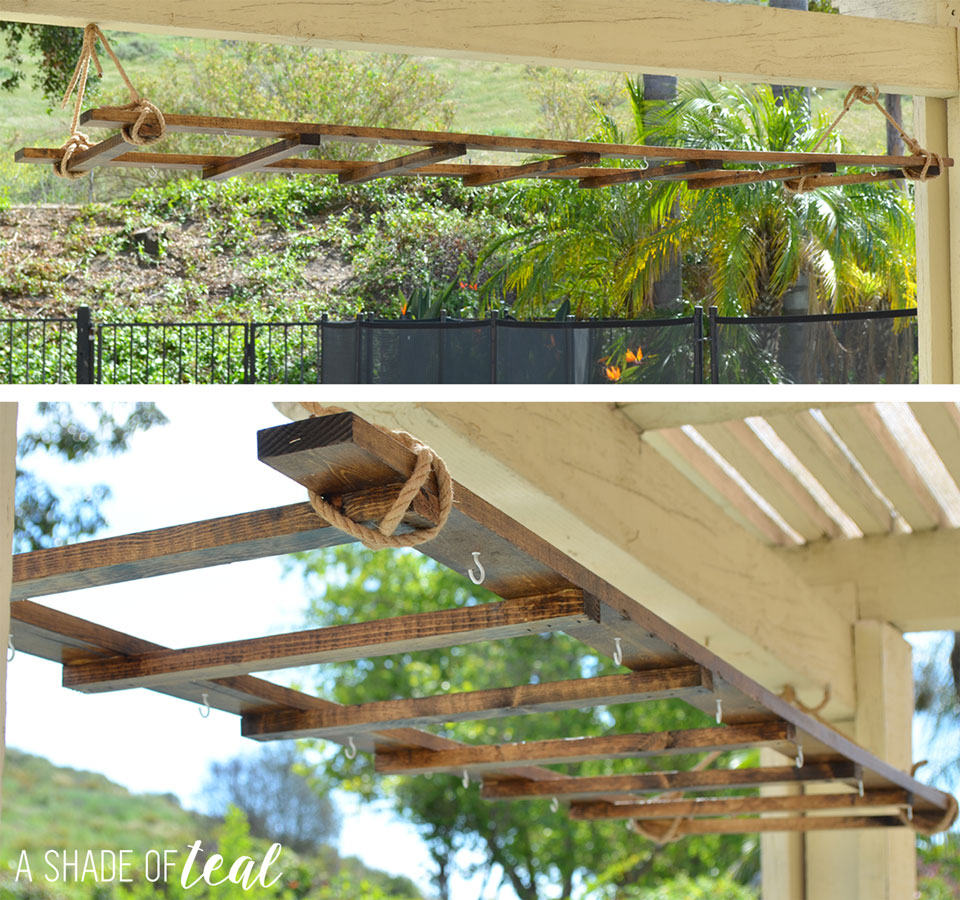 Outdoor String Lights Big Lots : DIY // Ladder Light Centerpiece & Outdoor Makeover with Big Lots A Shade Of Teal