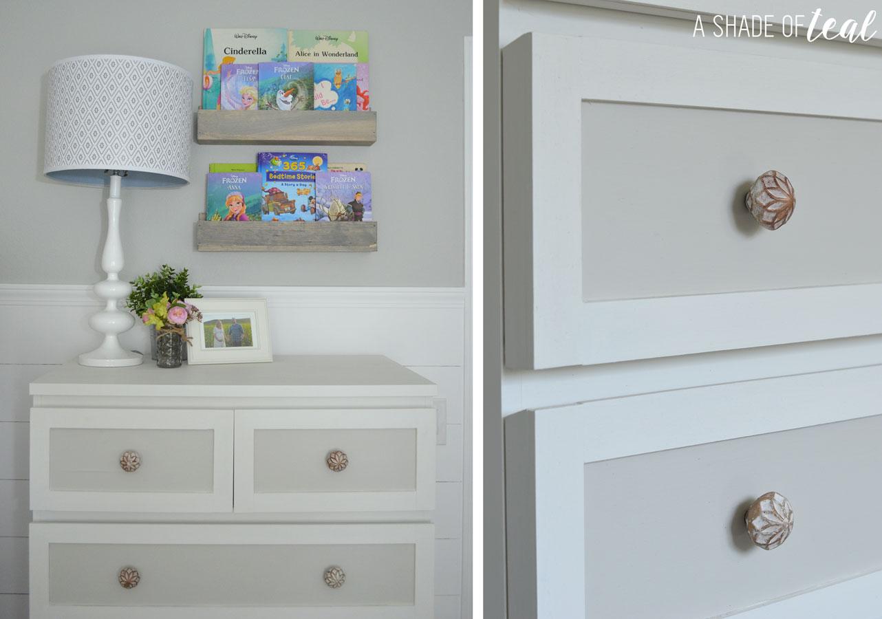 ikea malm dresser hack for a rustic glam nursery a shade of teal. Black Bedroom Furniture Sets. Home Design Ideas