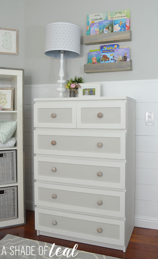 ikea malm dresser hack for a rustic glam nursery a shade of teal