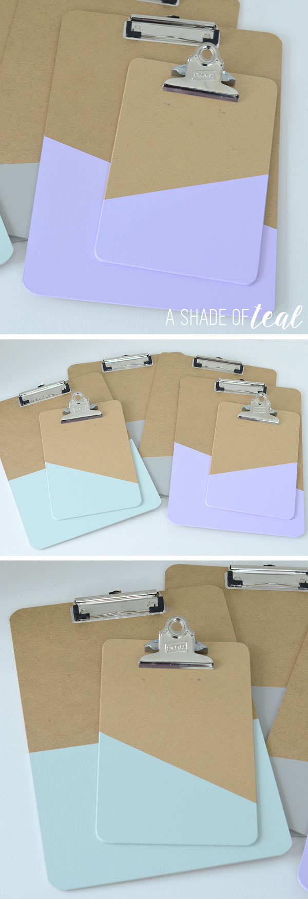 How To Make A Clipboard Gallery Wall A Shade Of Teal