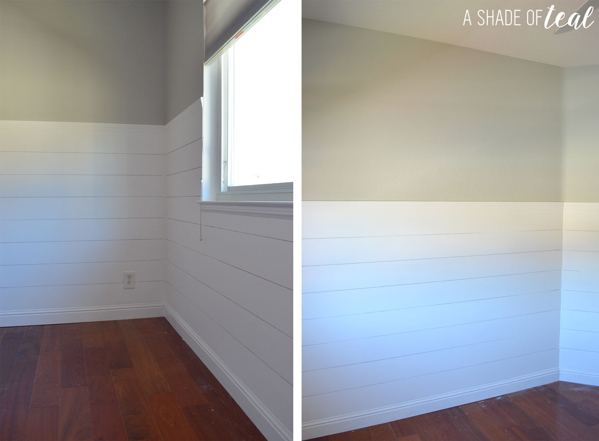 How To Install Faux Shiplap A Shade Of Teal