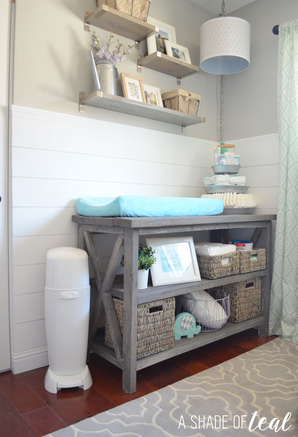 Create The Perfect Baby Changing Station Plus A Checklist Printable A Shade Of Teal