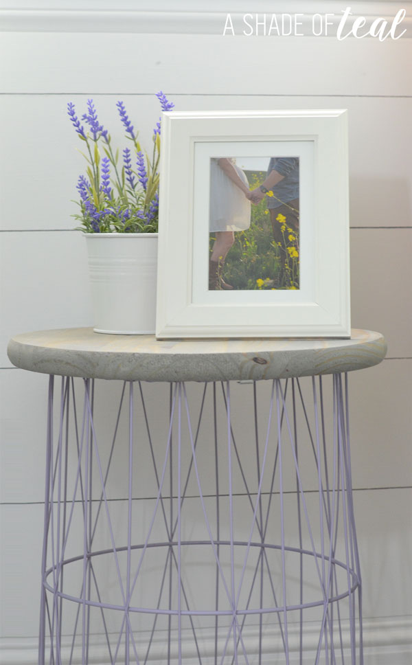 How To Wire Trash Can Turned Side Table A Shade Of Teal