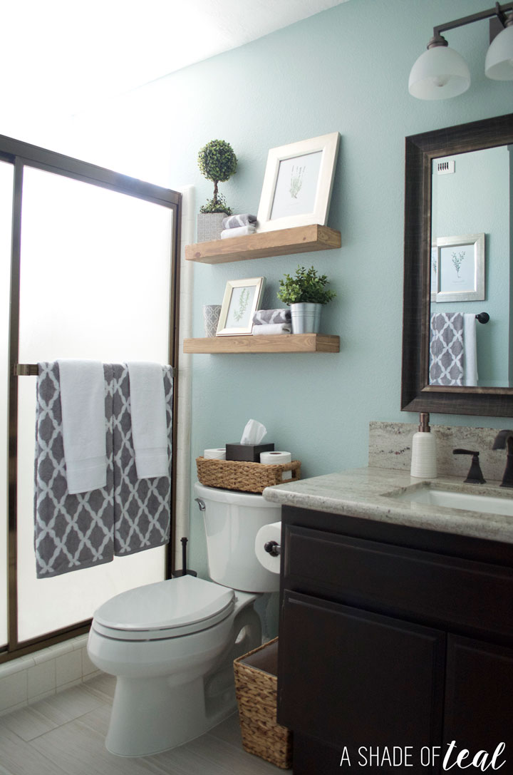Rustic Bathroom Refresh, Source List | A Shade Of Teal