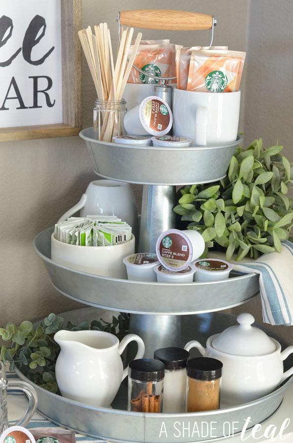 How to Setup a 3-tier Coffee Bar, Plus Free Printables!