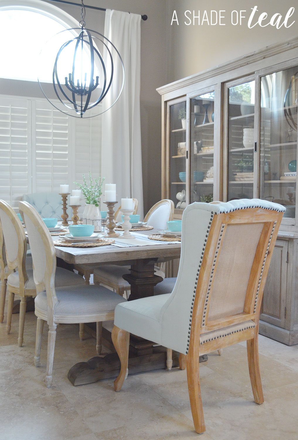 Home Projects A Shade Of Teal Modern Rustic Dining Room