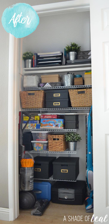 Get Organized Storage Closet Makeover