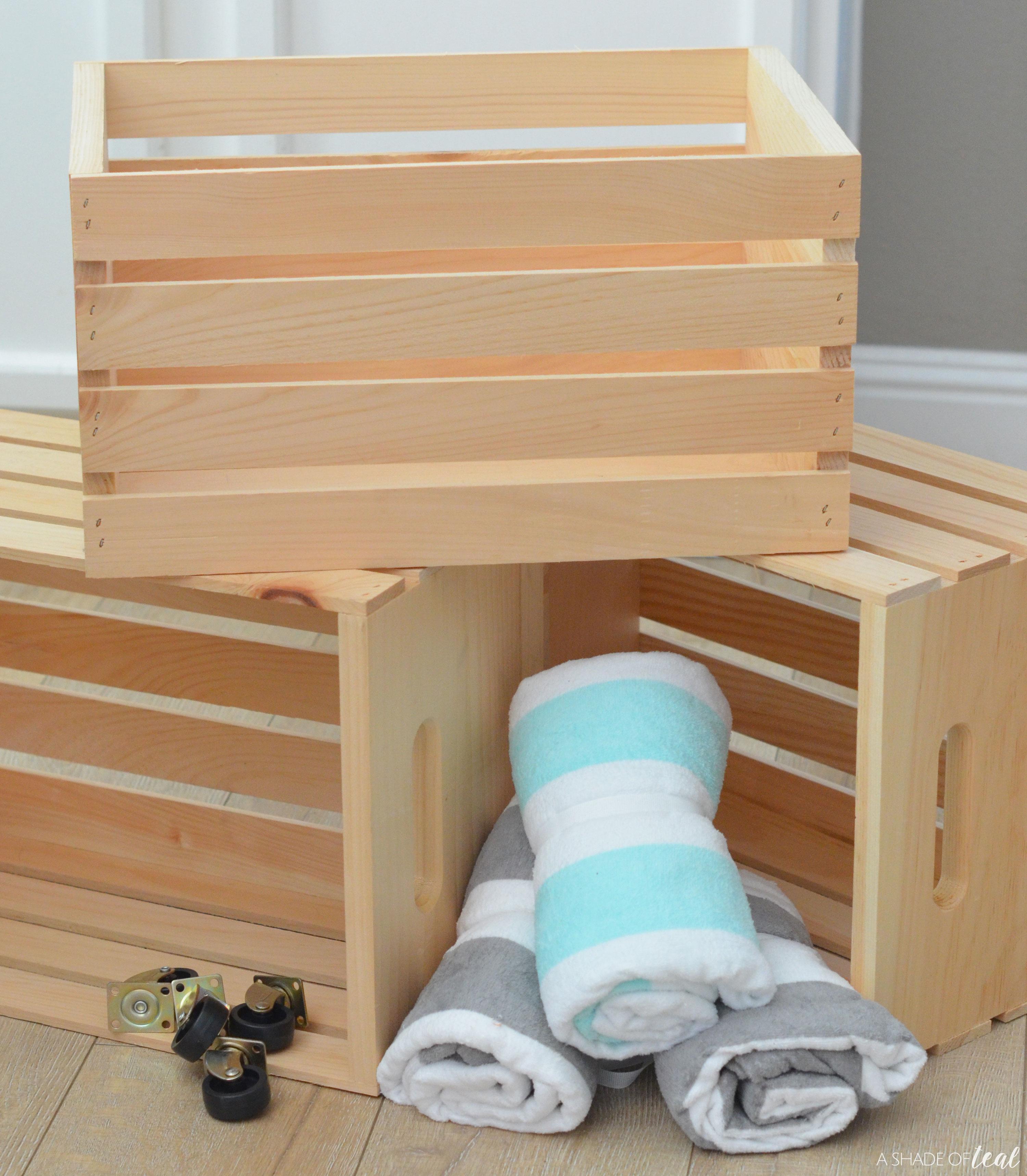 Diy Pool Towel Rack And Storage Area