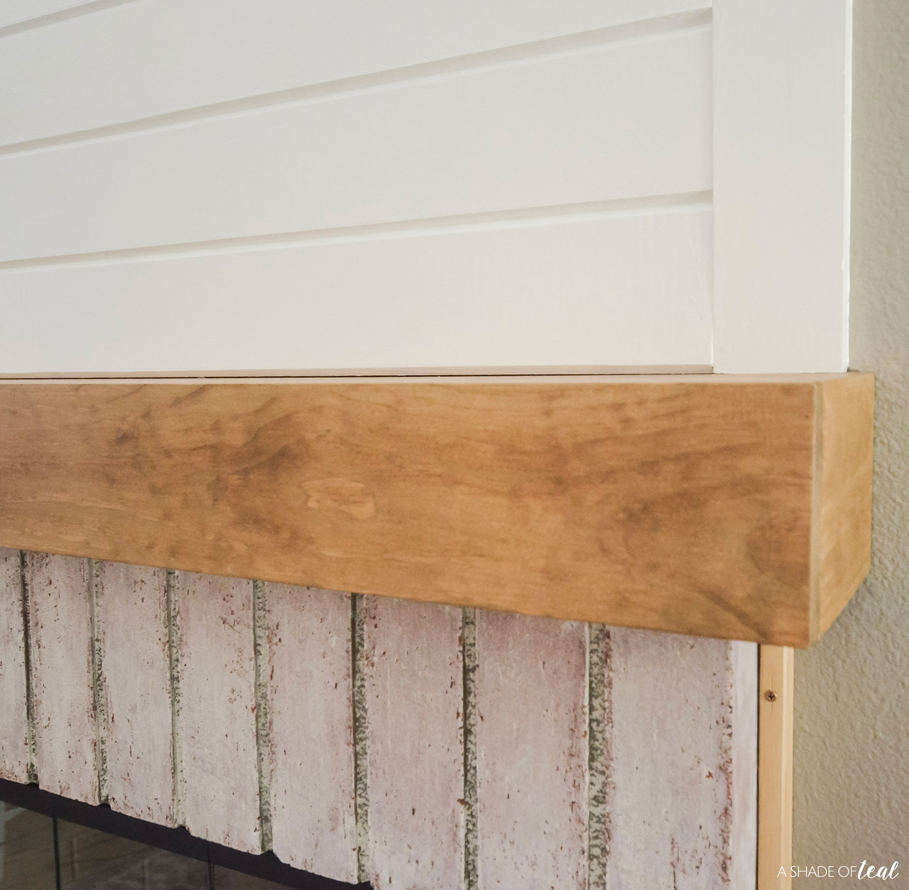 Modern Rustic Fireplace Makeover How To Build A Wood Mantle